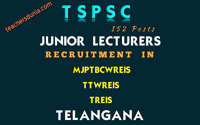 TSPSC-Junior-Lecturers-In-Residential-Educational-Institutions-Society-Recruitment-Notification