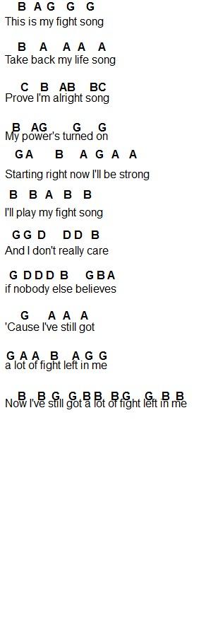 Flute Sheet Music: Fight Song