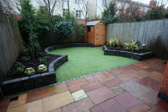 Contoh desain taman minimalis eropa sederhana namun terlihat cantik