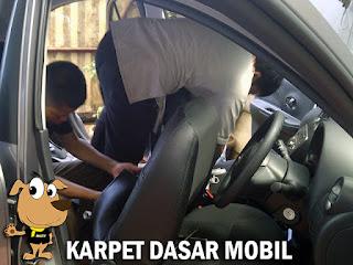 cara pasang karpet dasar mobil