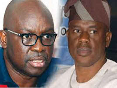 Ekiti State Governor Ayo Faose. and former minister of state for defence Obanikoro
