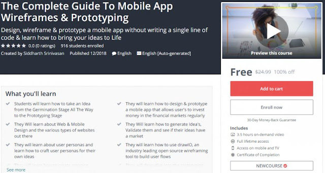 [100% Off] The Complete Guide To Mobile App Wireframes & Prototyping| Worth 24,99$