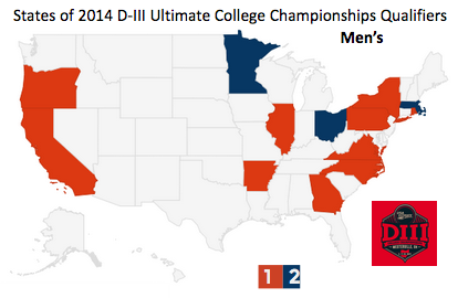 Sludge Output: Maps of Top D-III College Ultimate Teams