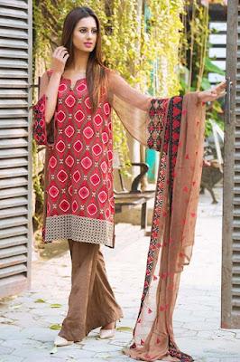 Motifz chiffon dresses 2017 pakistani