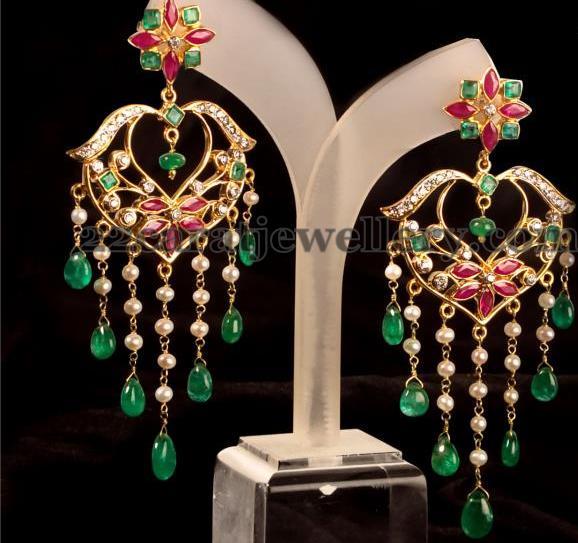 Nice Earrings From Vummidi - Jewellery Designs