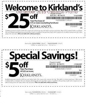 Kirklands coupons december