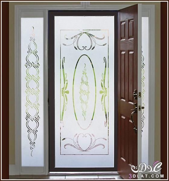 Mẫu decal trang trí cửa với họa tiết đối xứng