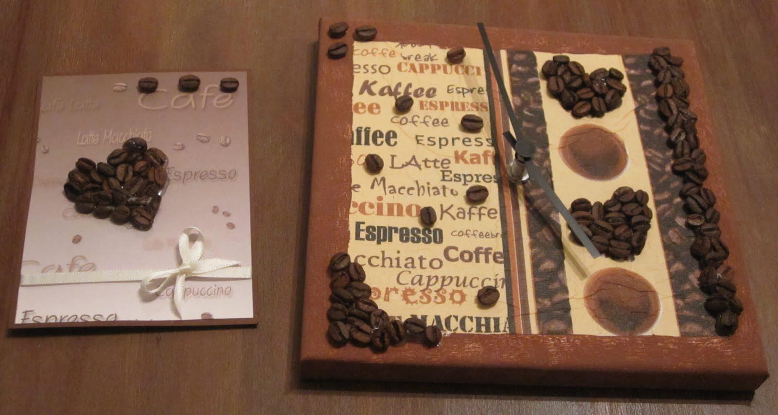 kreativwelt mgoll88 nr 16 101 kaffee uhr aus keilrahmen. Black Bedroom Furniture Sets. Home Design Ideas