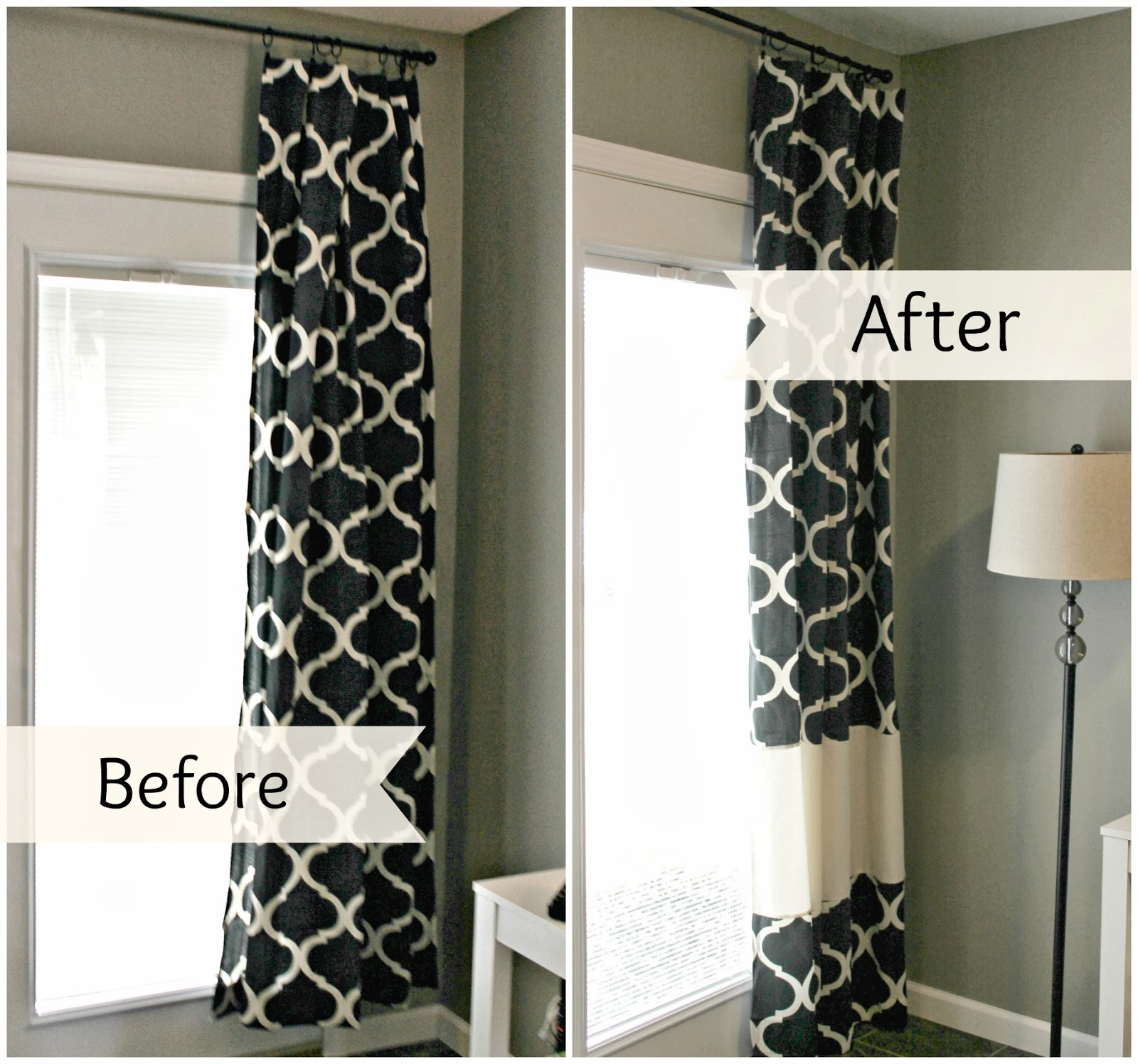 Lengthen curtains without sewing How to make a valance without sewing