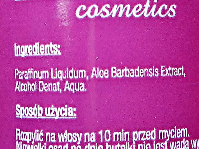 New ANNA Cosmetics - Nafta kosmetyczna z aloesem, skład