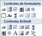 Controles principales de formularios con macros integradas