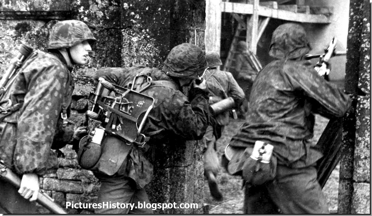 Waffen SS soldiers MG 34 machine gun Katika 1941 Eastern Front