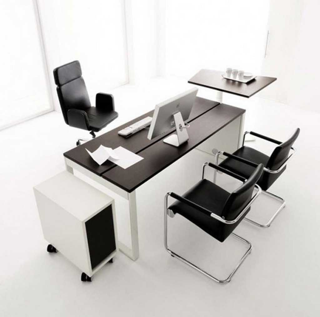 Modern Black White Minimalist Furniture Interior. Minimalist Office  Furniture Enchanting Desk Design Picture With Contemporary
