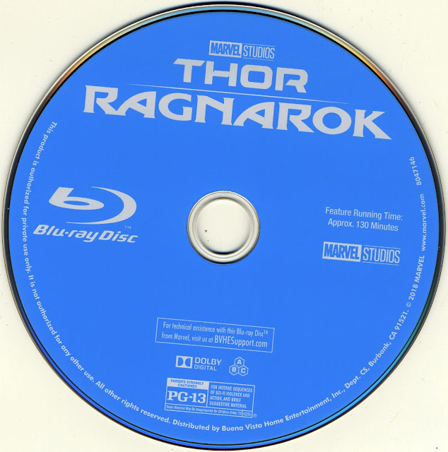 Thor Ragnarok Bluray Label
