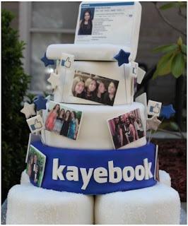 Kue Ulang Tahun Sosmed Facebook Tingkat