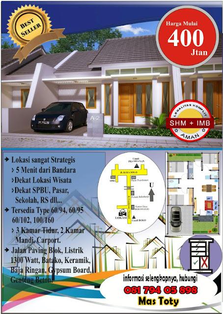 Rumah Murah Minimalis di Berbah dekat Candi Prambanan