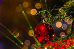Imagen de una parte de un árbol de navidad