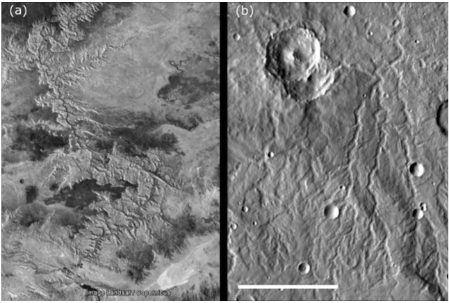 Recent work challenges view of early Mars, picturing a warm desert with occasional rain