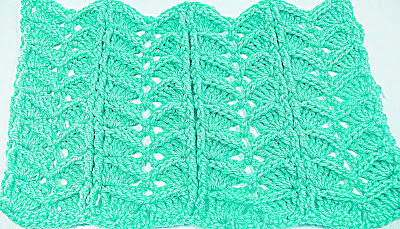 4 -Crochet.Imagen puntada a crochet para la cobija a relieve.Majovel Crochet Ganchillo