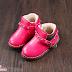 Giày da nữ lót lông trẻ em bán buôn