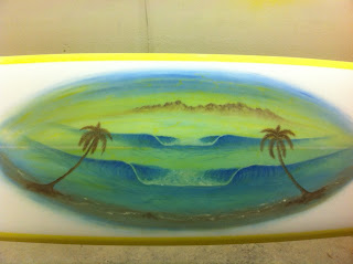 Surfboards &a art by Paul Carter