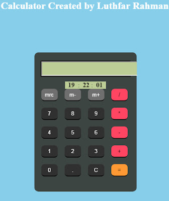 Html Calculator Code