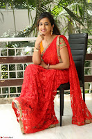 Lasya Cute Beauty in Saree Backless Choli at her Interview ~  Exclusive 027.JPG