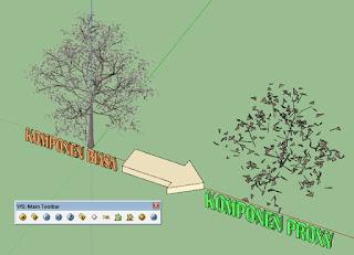 Cara membuat & menggunakan  V-Ray Proxies
