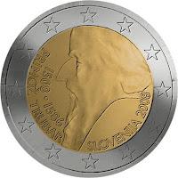 slovenia 2 euroa kolikko primoz trubar 2008