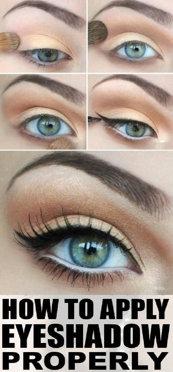 IDEAL FASHION: How To Apply Eye Shadow Properly