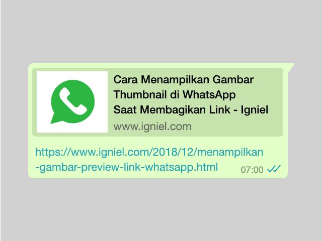 Cara Menampilkan Gambar Thumbnail di WhatsApp Saat Membagikan Link