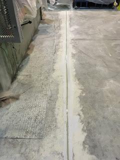 Pavimento reparado con productos Comace