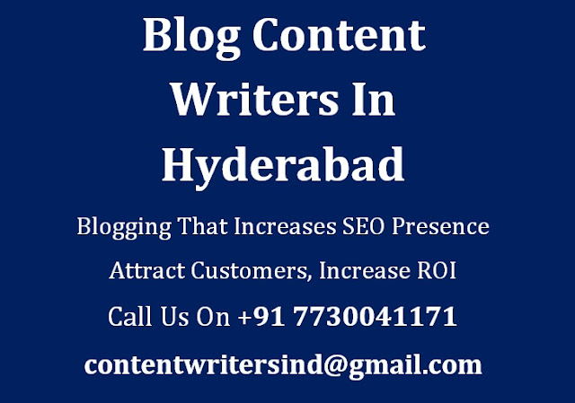 Blog Content Writers Hyderabad