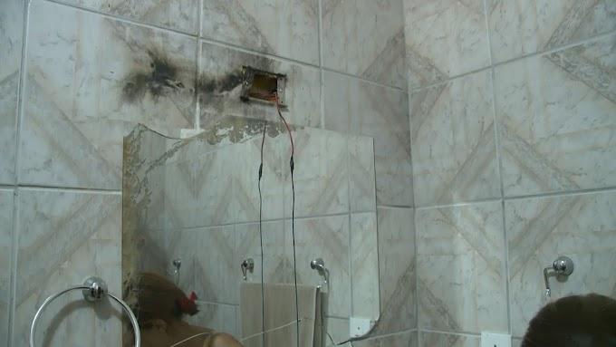 CHUVA: Raio atinge casa e queima aparelhos eletrônicos em Sousa, PB.