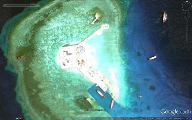 Đá Gaven thuộc quần đảo Trường Sa bị Trung Quốc chiếm đóng