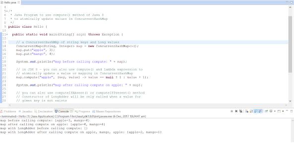 Java 8 compute() and computeIfPresent() Example