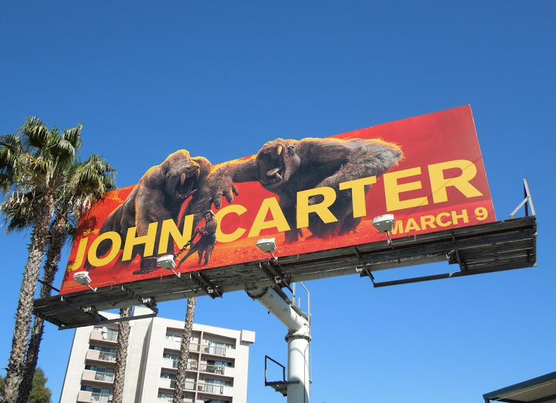 John Carter movie White Apes billboard