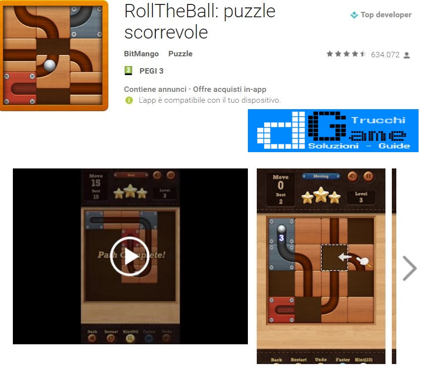 Soluzioni RollTheBall: puzzle scorrevole livello 1 2 3 4 5 6 7 8 9 10 | Trucchi e  Walkthrough level