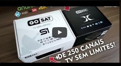 GoSat S1 para satélite e GoBox X1