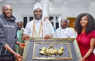 "Thank You For Taking Care Of 2baba For Us"" – Ooni Of Ife Thanks Annie Idibia"
