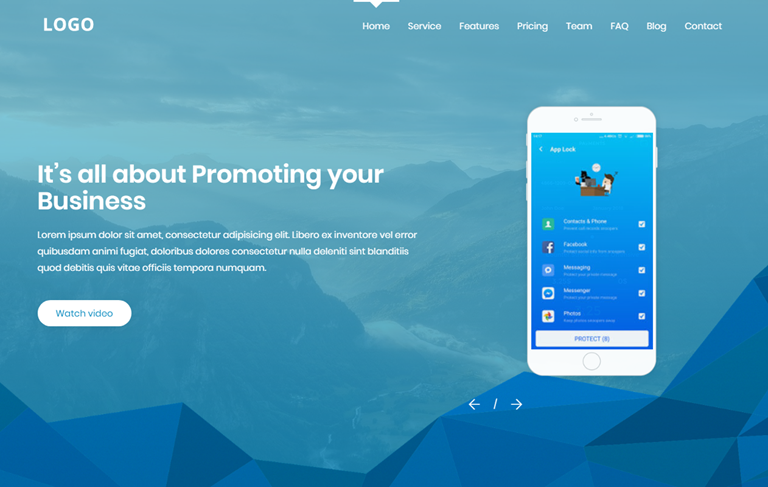 Việt Blogger Services Landing Page Blogger Template