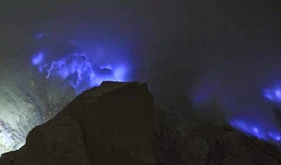 Mountain, Blue Fire, Indonesia