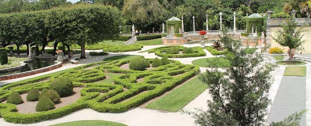 Jardines en la Villa Vizcaya