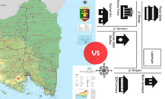 Perbedaan Denah Dan Peta
