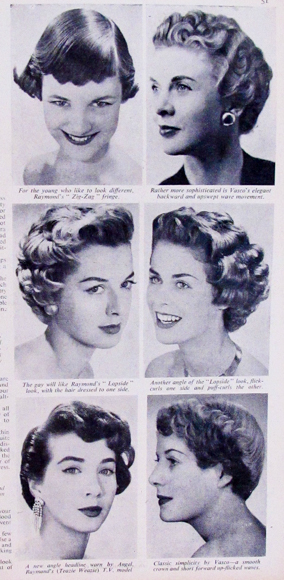 time to try out a new Hair-do.  Woman and Home March 1956
