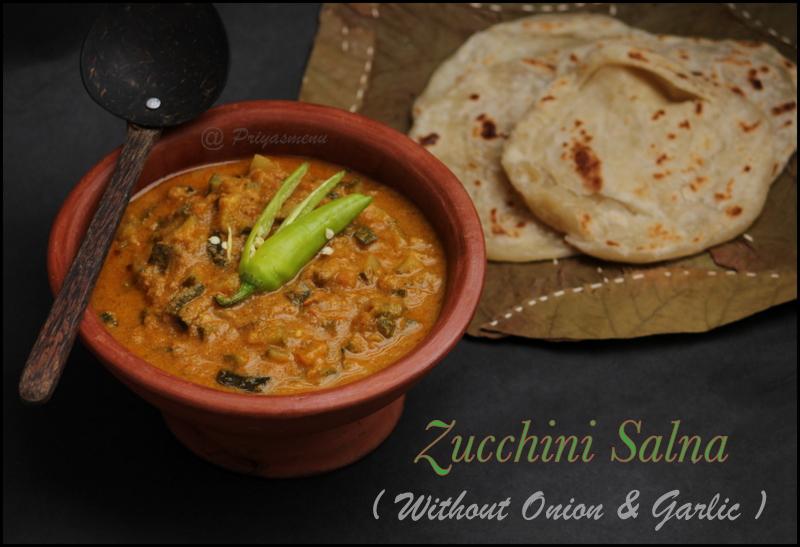 Zucchini Salna for Parota/Roti/Chapathi
