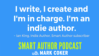 "image reads:  ""I write, I create and I'm in charge.  I'm an indie author"""