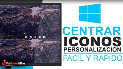 centras los iconos de la barra de tareas en tu windows 10