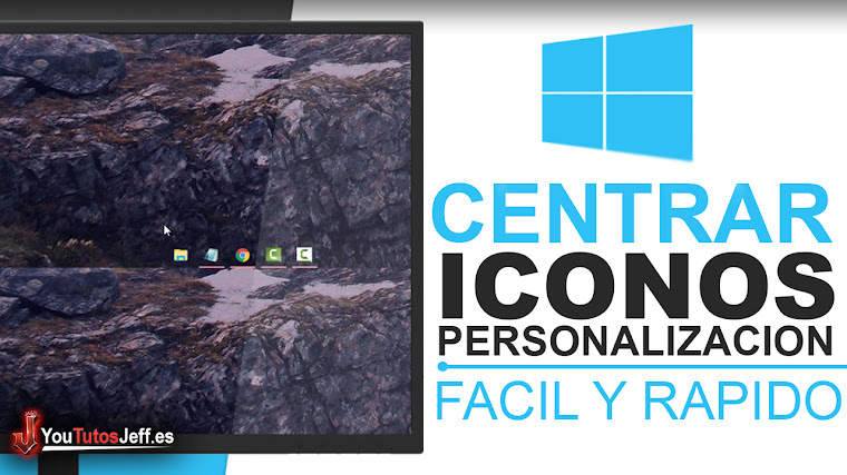 Como Centrar iconos de la barra de tareas en Windows 10