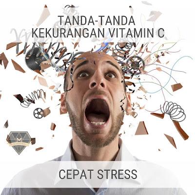 Tanda Kekurangan Vitamin C - Cepat Stress